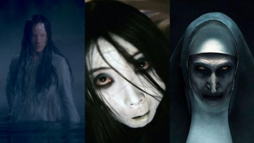 ghosts from The Haunting of Bly Manor, The Grudge, and The Nun