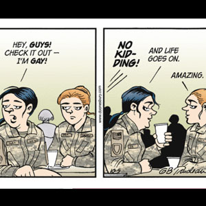 Doonesbury Character Roz Comes Out After End of DADT