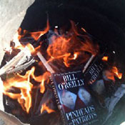 US Soldiers Burn Bill O'Reilly's New Book 'Colbert Report' - Video