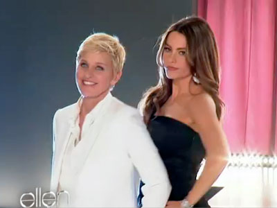 Ellen DeGeneres and Sofia Vergara Cover Girl Commercial Shoot – Video
