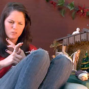Faux Kristen Stewart Explains The Story of Christmas - Video