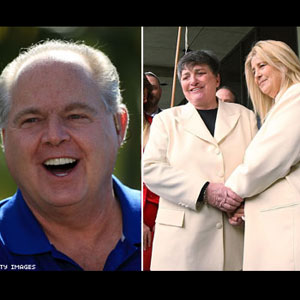 Rush Limbaugh Targets Lesbian Couple Getting Divorced - Robin Tyler and Diane Olson