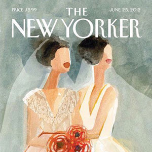 A Talk With 'The New Yorker' Lesbian Wedding Cover Artist Gayle Kabaker
