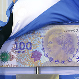 Eva Peron 100-Peso Bill Unveiled in Argentina
