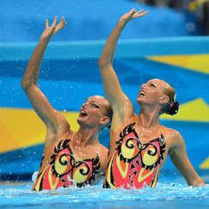 Shot of the Day: Synchronized Swimming's Girl / Girl Kiss at the Olympics