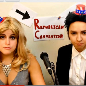 Watch: Bria and Chrissy  in Romney Drag - 'RNC 2012 Someone Gets to Be a Dad'
