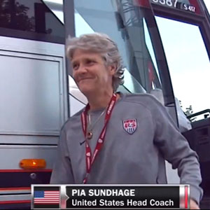 US Women's Soccer Team Bids Fond Farewell to  Coach Pia Sundhage