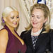 Shot of the Day: Hillary Clinton, Christina Aguilera and Her Cleavage for the World Food Programme