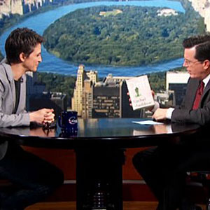 Watch: Almost Gleeful Rachel Maddow Breaks Down Election Results with Stephen Colbert