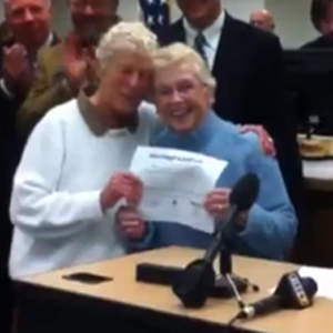 Watch: Washington's First Lesbian Marriage License