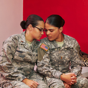 Photos - Married Lesbians in the Military Highlight Inequality