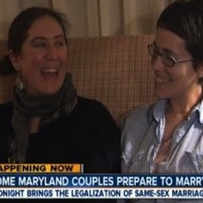 Maryland's Lesbian and Gay Couples Ring in the New Year with Marriage Equality