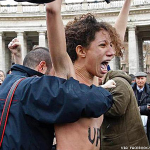 Watch: Feminists Strip Down, Tell Pope to Shut Up