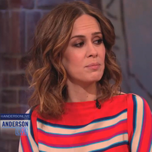 Watch: Sarah Paulson Tells Anderson Cooper She's A Loser