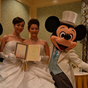 Lesbian Couple First to Marry At Tokyo Disney