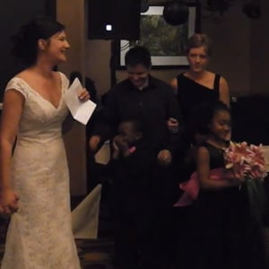 WATCH: Minnesota Bride Passes Bouquet to Her Lesbian Sister, Wife, and Kids