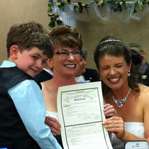 Shot of the Day: Colorado's First Civil Union Recipients Are Lesbian Moms