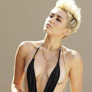 Shot of the Day: Miley Cyrus Channels Borat in Full-Body Thong