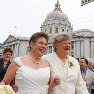 Kathy Wolfe, Founder of Lesbian Film Company Wolfe Video, Gets Hitched in San Francisco