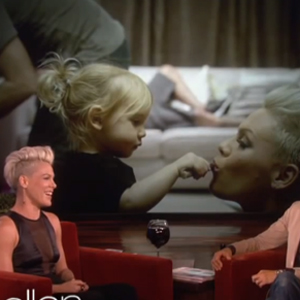WATCH: Pink Tells Ellen She's In Love with a Girl — Her 2-year-old Daughter, Willow