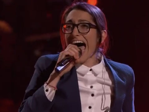 WATCH: Michelle Chamuel Returns to The Voice with 'Go Down Singing'