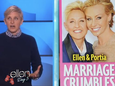 WATCH: Ellen Will Tell You if She and Portia are Getting Divorced!