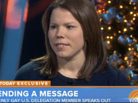 WATCH: Out Sochi Olympics Delegate Caitlin Cahow Talks to Matt Lauer About Going to Russia