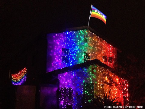 Woman Responds to Antigay Neighbors Hate Over Pride Flag by Making House Even GAYER!