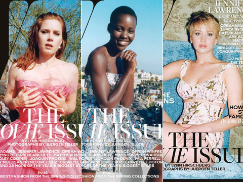 Shot of the Day: Jennifer Lawrence, Amy Adams, Lupita Nyong'o Wow for W's Movie Issue