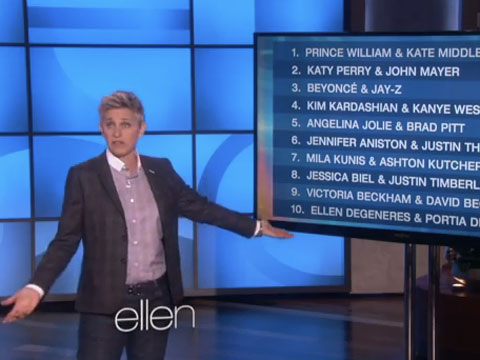 WATCH: Ellen On How She and Portia Were Named a Top 10 Couple that Should Make a Sex Tape