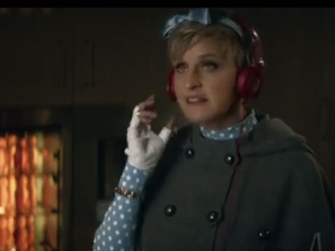 WATCH: Ellen Is Goldilocks, Dances with Bears for Beats' Superbowl Commercial