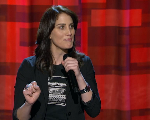 WATCH: Out Comic Erin Foley Is a 'Lady with Pockets' on Arsenio Hall's Show