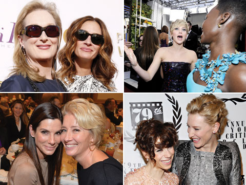 11 Examples of This Year's Oscar Nominees Being Adorable Together - Meryl, Julia, Cate, Lupita, June, etc...