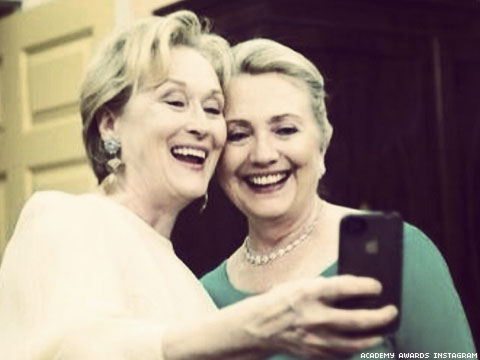 Shot of the Day: The Meryl Streep/Hillary Clinton Selfie You Need In Your Life Right Now!
