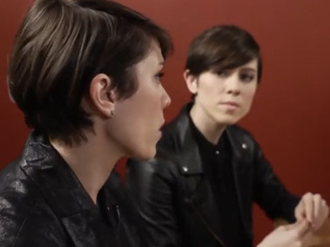 WATCH: Tegan and Sara Discuss Ellen Page's Inspiring HRC Shout Out