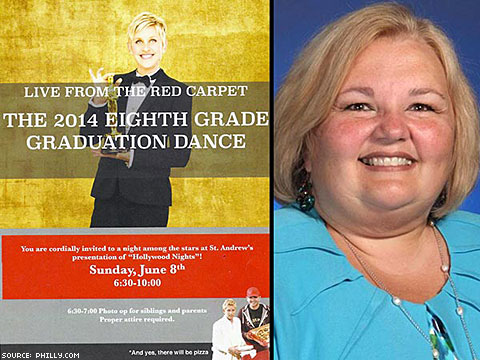 Penn. Catholic School Apologizes for Using 'Poor Role Model' Ellen's Pic on Invitation