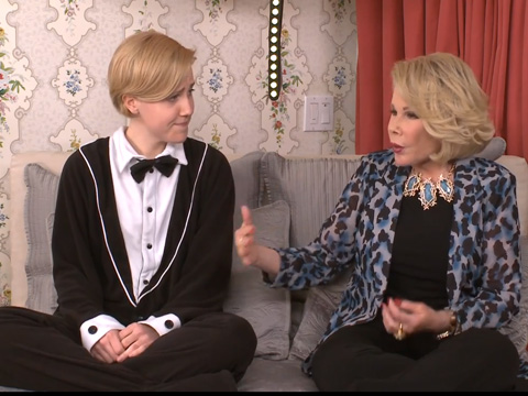 Out YouTuber Hannah Hart Cozies Up To Joan Rivers