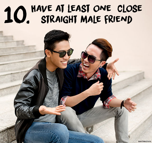 A gay guy has discovered when a guy is close