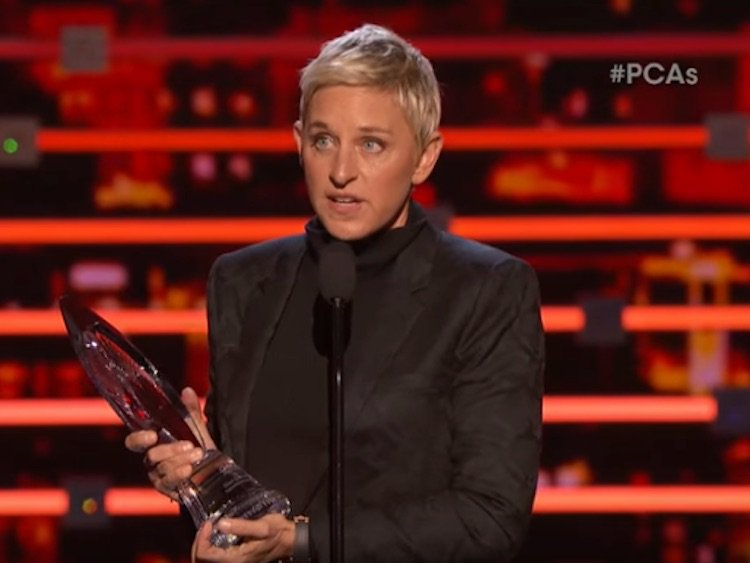WATCH: Ellen DeGeneres Accepts the People's Choice Humanitarian Award With Hilarious, Moving Speech