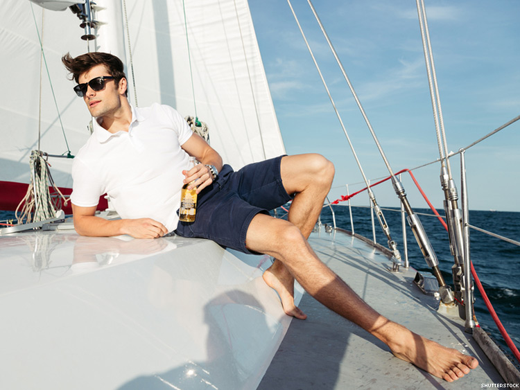 guy on a yacht