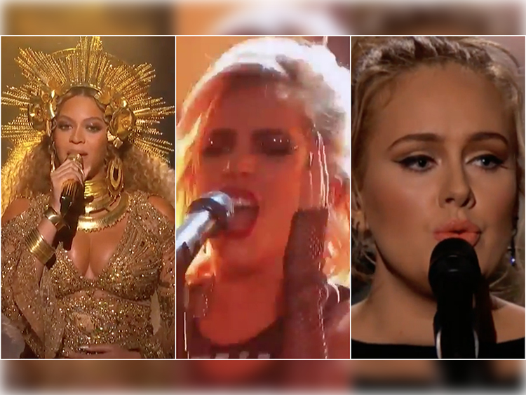 beyonce-lady-gaga-adele-grammy-performances