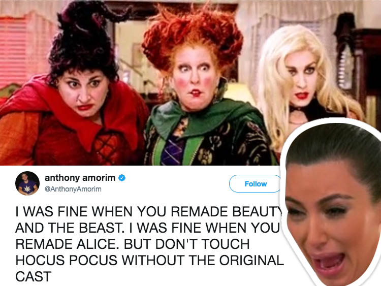 """Hocus Pocus"" fans are mad about the news of Disney's remake without the original cast."