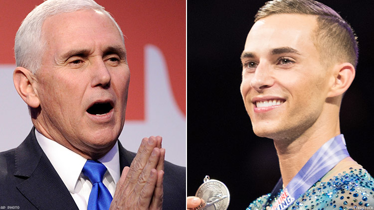 Mike Pence Sent a Tweet to Gay Olympian Adam Rippon, But It's Just Another Insult