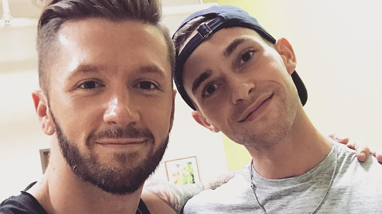 Travis Wall with Adam Rippon