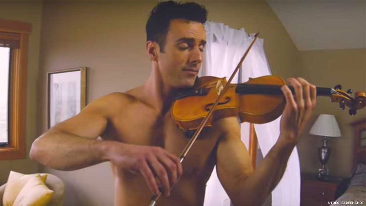 Shirtless Violinist's Cover of Ed Sheeran's 'Perfect' Is an