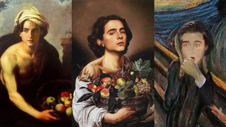According to This Instagram, Timothée Chalamet Is a Work of Art
