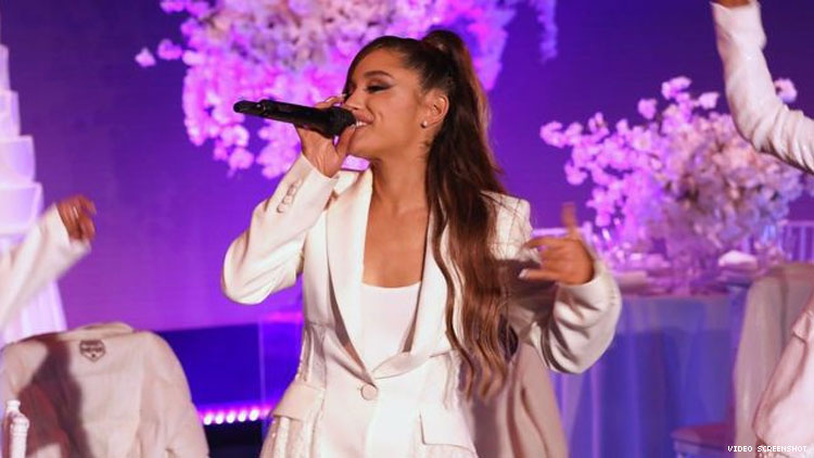 Ariana Grande Trips, Tears up in 'Thank U, Next' Ellen Performance