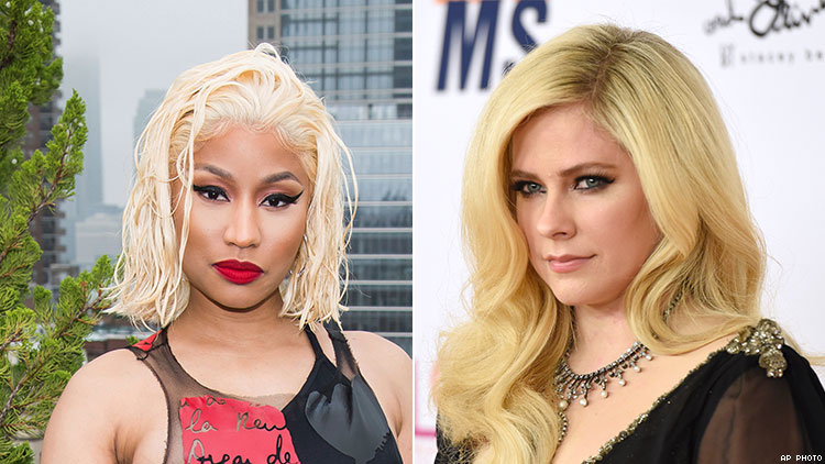 Nicki Minaj Randomly Collabs With Avril Lavigne on