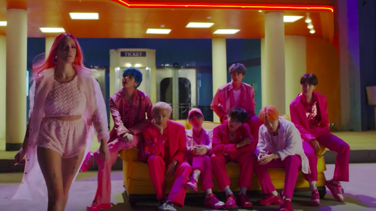 BTS and Halsey Preview Collaborative Single 'Boy With Luv'