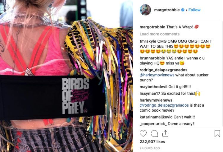 margot-robbie-instagram-harley-quinn-birds-ofprey-wrapped-filming